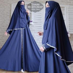 Setelan Baju Muslimah Gamis Syari Khimar dan Cadar Modern Model Terbaru Murah