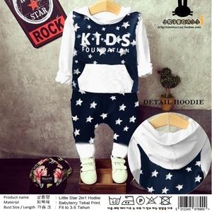 Setelan Baju Sweater Hoodie dan Celana Panjang Anak Laki-laki