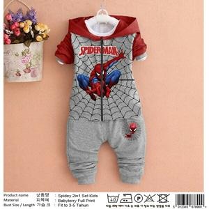 Setelan Jaket Hoodie Spiderman dan Celana Panjang Anak Laki-laki