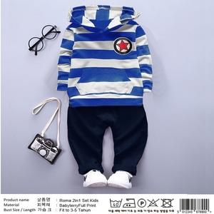 Setelan Sweater Hoodie Belang dan Celana Panjang Anak Laki-laki