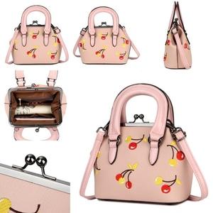 Tas Selempang Sling Bag Wanita Korea Motif Cherry Modern