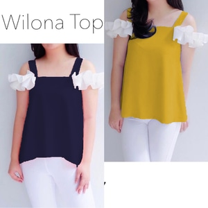 Baju Atasan Wanita Blouse Bahu Bolong Model Terbaru
