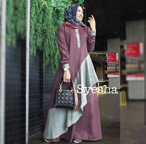 Baju Gamis Long Dress Muslim Modern Model Terbaru