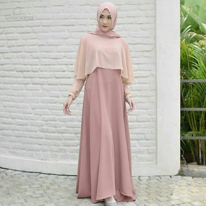 Baju Gamis Long Dress Muslim Pesta Model Terbaru Ryn Fashion