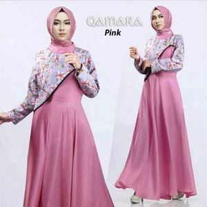 Baju Gamis Long Dress Panjang Muslim Pesta Modern