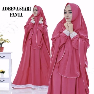 Baju Gamis Syari Busui Setelan Jilbab Bergo Model Terbaru