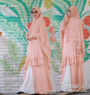 Baju Gamis Syari Setelan Hijab Jilbab Khimar Modern