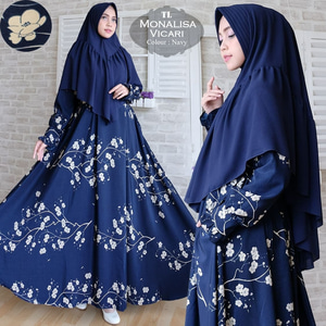 Baju Gamis Syari Setelan Hijab Modis Motif Cantik Modern