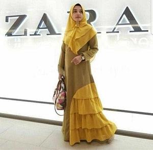 Baju Gamis Syari Setelan Pakaian Muslimah Modern