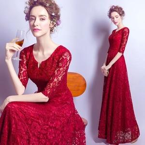 Baju Gaun Pesta Long Dress Maxy Panjang Bahan Brukat