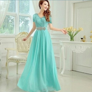 Baju Gaun Pesta Long Dress Panjang Cantik Model Terbaru