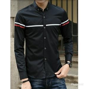 Baju Kemeja Pria Hem Cowok Lengan Panjang Modern