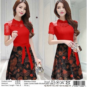 Baju Mini Dress Pendek Pesta Kombinasi Batik Model Terbaru