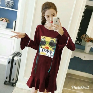 Baju Mini Dress Pendek Wanita Modern Model Terbaru