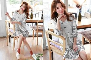 Baju Mini Dress Pendek Wanita Motif Cantik Model Terbaru
