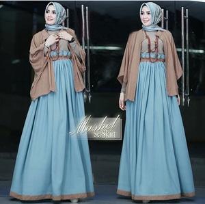 Baju Muslimah Wanita Setelan Cardigan dan Rok Modern