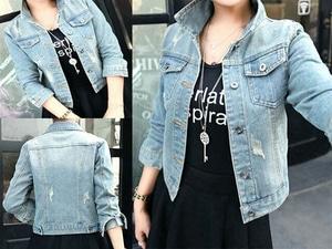Jaket Wanita Bahan Jeans Wash Keren Modern Model Terbaru