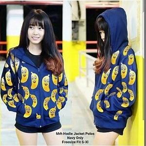 Jaket Wanita Motif Pisang (Banana) Keren Model Terbaru