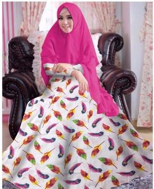 Setelan Hijab Baju Gamis Syari Motif Model Terbaru