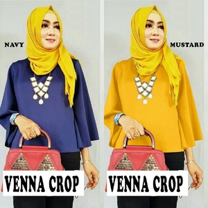 Baju Atasan Wanita Blouse Crop Lengan Panjang Modern