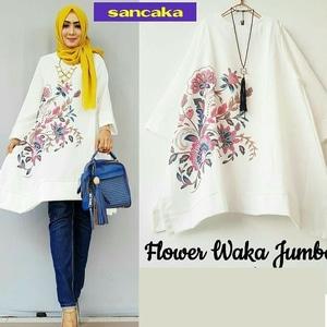 Baju Atasan Wanita Blouse Hijab Lengan Panjang Modern