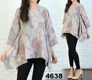 Baju Atasan Wanita Blouse Jumbo Big Size Lengan 7 per 8