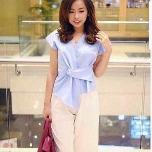 Baju Atasan Wanita Blouse Model Kimono Lengan Pendek