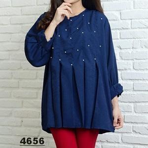 Baju Atasan Wanita Blouse Ukuran Jumbo Aplikasi Mutiara