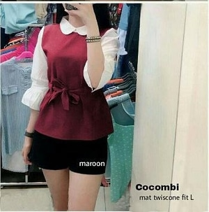 Baju Atasan Wanita Blouse Warna Kombinasi Modern