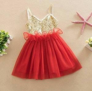 Baju Mini Dress Pendek Blink-blink Pesta Anak Perempuan