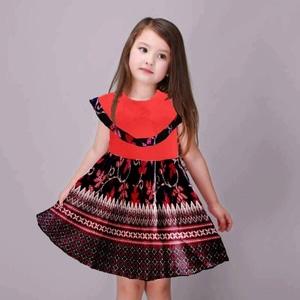 Baju Mini Dress Pendek Motif Batik Anak Perempuan Cantik