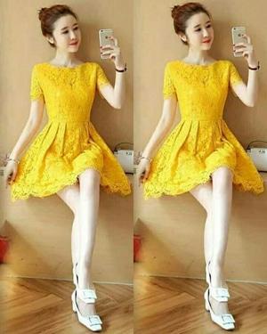 Baju Mini Dress Pendek Pesta Bahan Brukat Cantik dan Murah