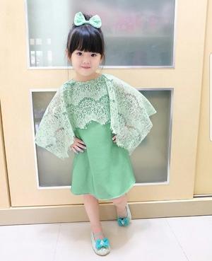 Baju Mini Dress Pendek Pesta Cape Brukat Anak Perempuan