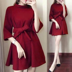 Baju Mini Dress Pendek Polos Modern Model Terbaru