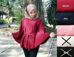 Model Baju Atasan Polos Untuk Wanita Muda Masa Kini