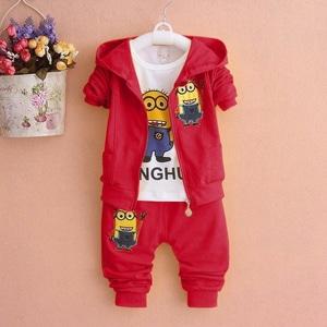 Setelan Baju Jaket Minion dan Celana Panjang Anak Cowok