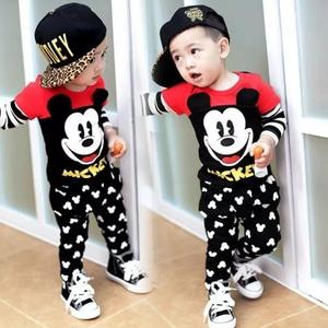 Setelan Baju Kaos dan Celana Panjang Mickey Anak Laki-laki
