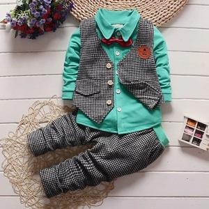 Setelan Baju Rompi dan Celana Panjang Anak Cowok Modern