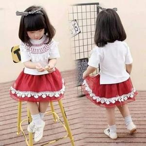 Setelan Baju dan Rok Mini Pendek Anak Perempuan Cantik