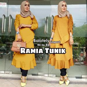 Baju Atasan Wanita Blouse Hijab Tunik Lengan Panjang