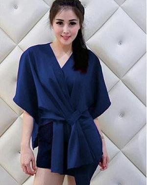 Baju Atasan Wanita Lengan Pendek Model Batwing Terbaru