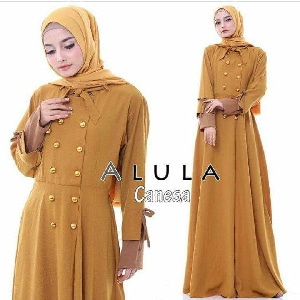 Baju Gamis Long Dress Hijab Bahan Balotelly Modern
