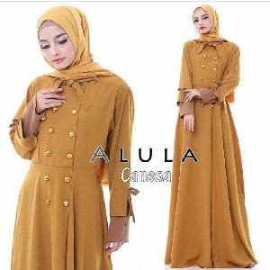 Baju Gamis Long Dress Hijab Bahan Balotelly Modern