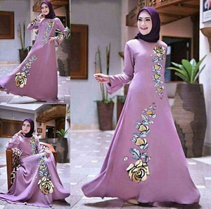 Baju Gamis Long Dress Hijab Pesta Model Terbaru