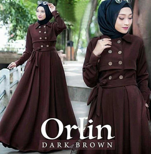 Baju Gamis Long Dress Muslim Cantik Model Terbaru