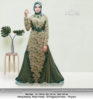 Baju Gamis Maxi Long Dress Muslim Pesta Bahan Brukat