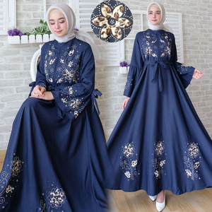 Baju Gamis Maxy Long Dress Muslim Model Terbaru