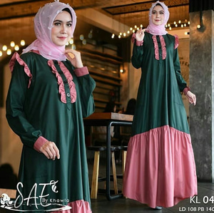 Model Baju Gamis Terbaru Long Dress Hijab Modern