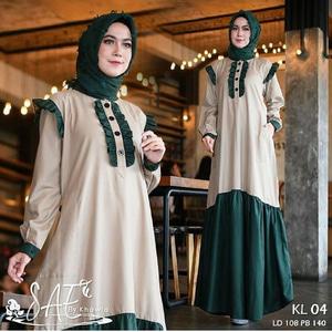 Model Baju Gamis Terbaru Long Dress Hijab Modern