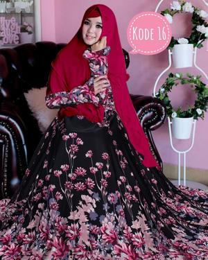 Setelan Baju Gamis Syari Motif Cantik Model Terbaru